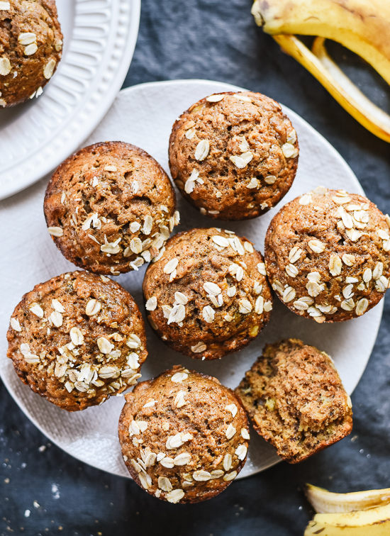 Healthy banana muffins recipe whole grains naturally sweetened healthy banana muffins recipe whole grains naturally sweetened and so good cookieandkate forumfinder Choice Image