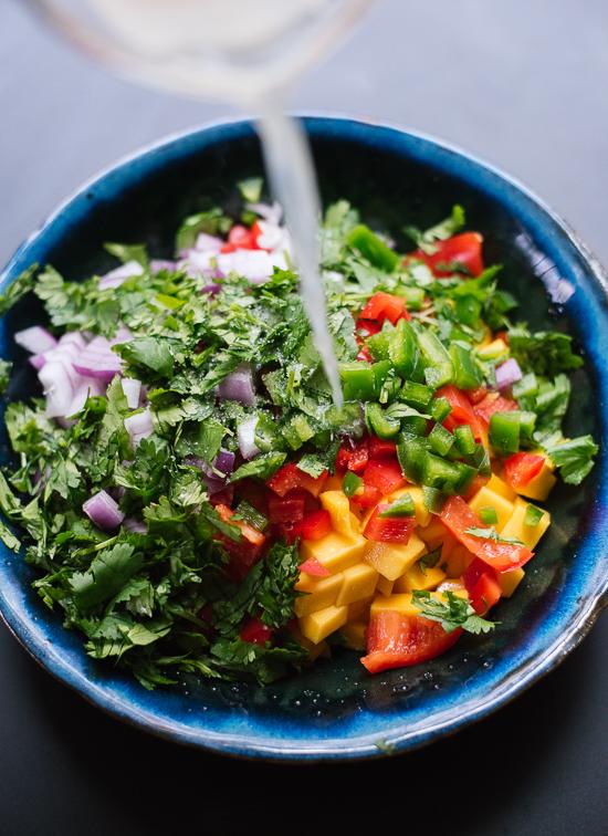 Homemade mango salsa recipe - cookieandkate.com
