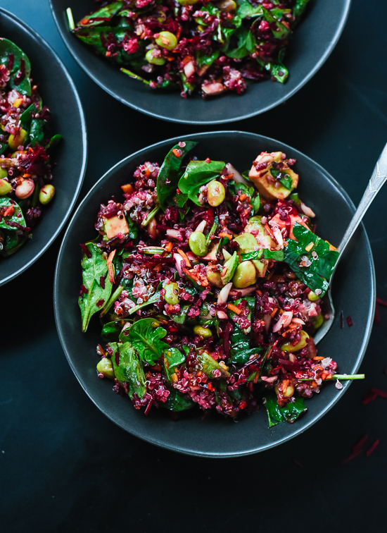 20 gluten free vegetarian dinner recipes cookie and kate reset with this colorful and healthy beet spinach and quinoa salad cookieandkate forumfinder Choice Image