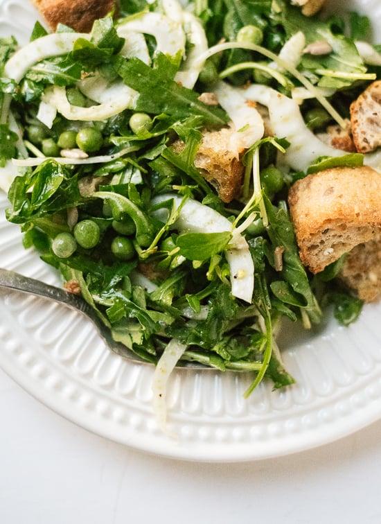 Fresh spring panzanella salad - cookieandkate.com