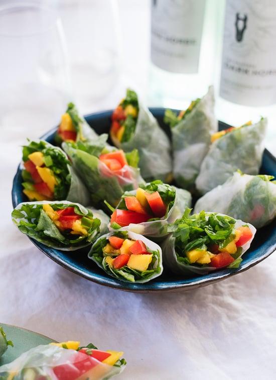 Tropical mango spring rolls recipe - cookieandkate.com