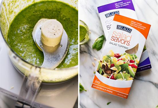 how to make basil pesto salad dressing