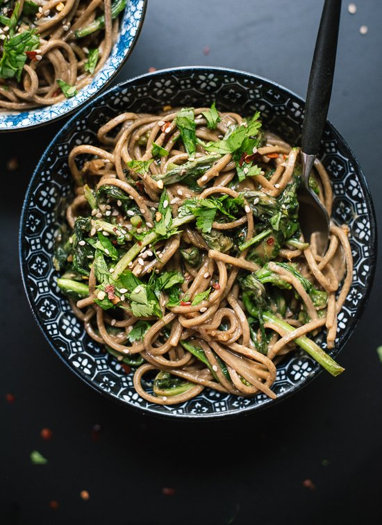 Soba noodles with creamy peanut sauce and delicious and nutritious ...