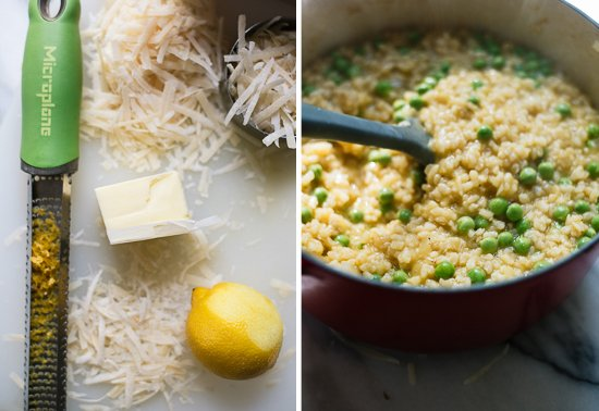 easy asparagus and pea risotto