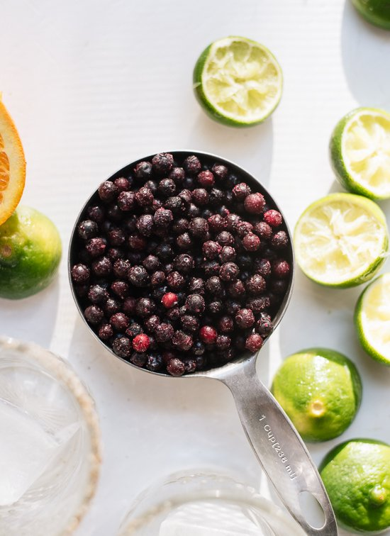Frozen blueberry margaritas ingredients - cookieandkate.com