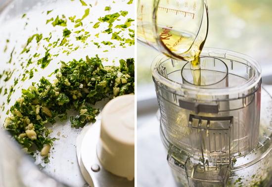 how to make basil pesto vinaigrette
