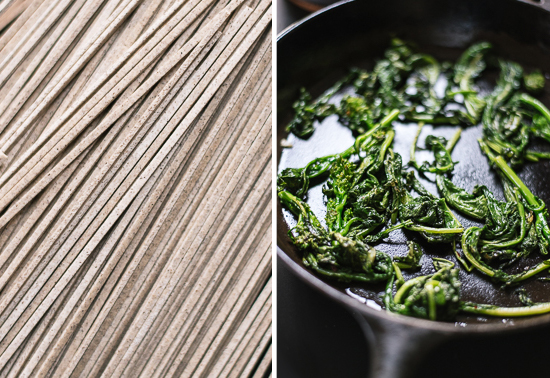 how to make broccoli rabe peanut soba noodles