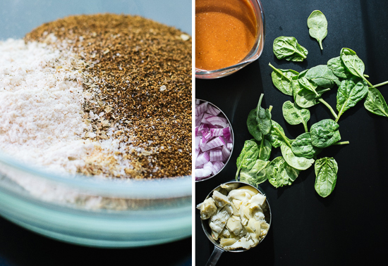 spinach-artichoke enchiladas ingredients