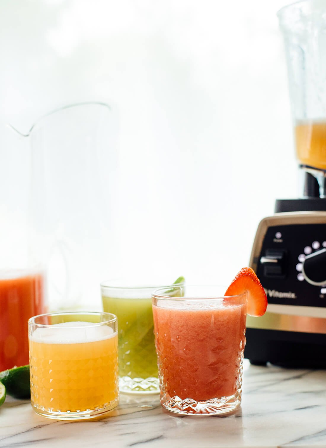 aguas frescas with blender