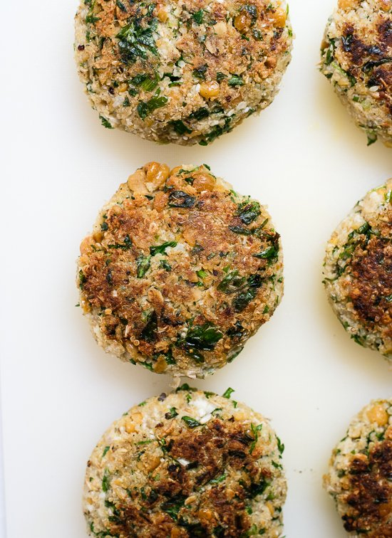 Healthy and light cauliflower falafel burgers - cookieandkate.com