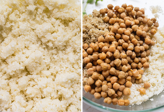 chickpeas and cauliflower