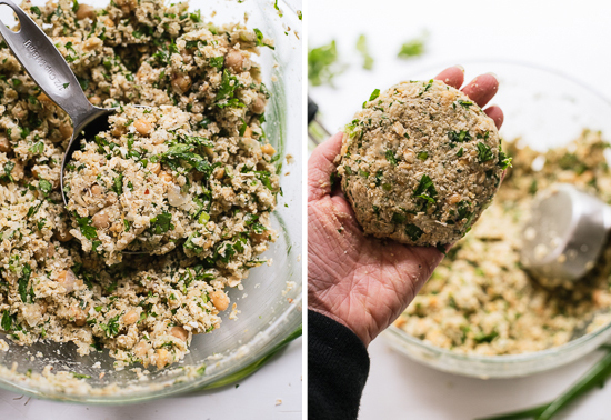 how to make falafel burgers