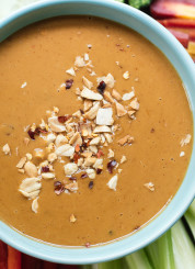 Healthy peanut sauce for dipping and drizzling! cookieandkate.com