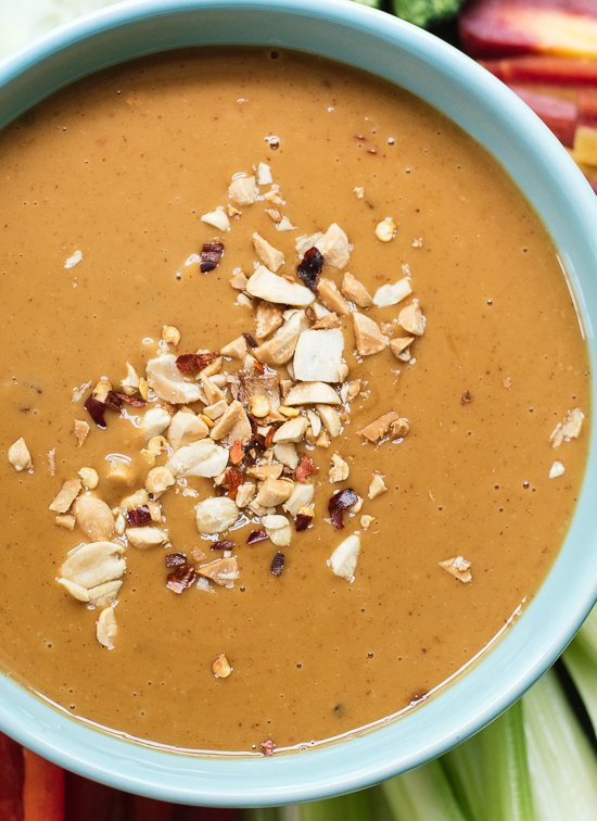 Asian peanut dipping sauce