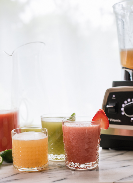 Strawberry, cantaloupe and cucumber mint aguas frescas! So refreshing. - cookieandkate.com
