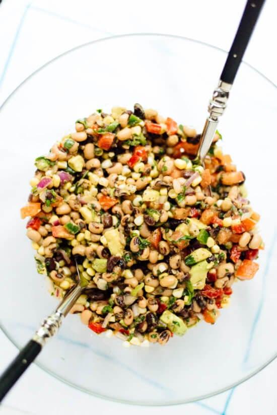 Make healthy cowboy caviar this summer! It's a bean salsa popular in the South. cookieandkate.com