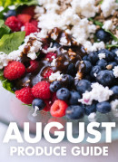 Learn what to do with August fruits and vegetables! Find recipes, preparation tips and more. cookieandkate.com