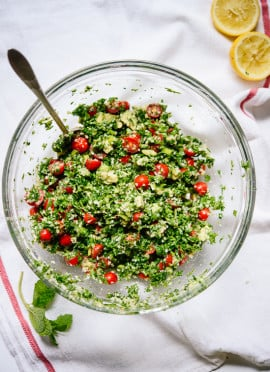 Maureen's Avocado Tabbouleh