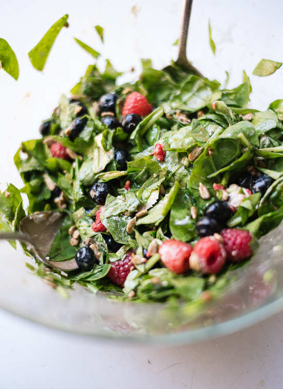 Simple summertime berry spinach salad - cookieandkate.com