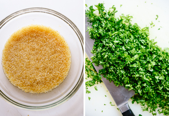 bulgur and parsley