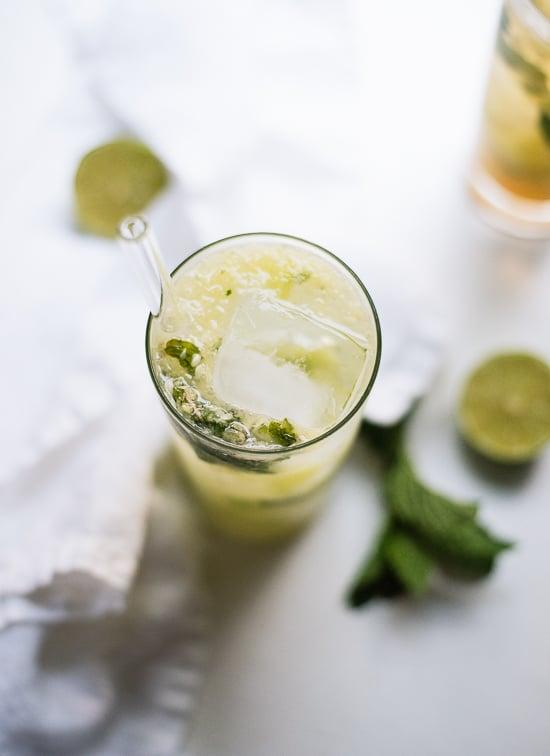 Cucumber mojito recipe - cookieandkate.com
