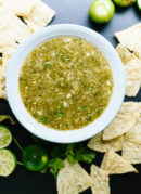 Homemade salsa verde, so fresh and simple, by @cookieandkate