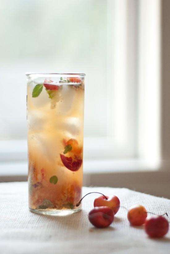 Rainier cherry mojito - cookieandkate.com