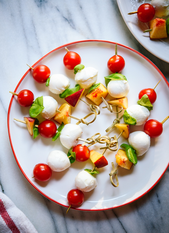 Simple caprese skewers recipe - cookieandkate.com
