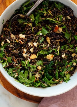 Arugula and Wild Rice Salad with Zippy Lemon Dressing