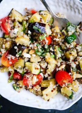 Mediterranean Quinoa Salad with Roasted Summer Vegetables