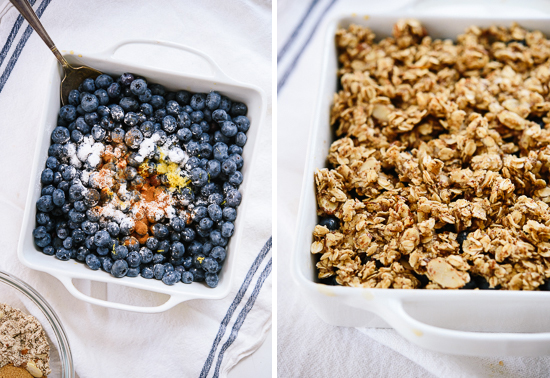 how to make a blueberry crisp