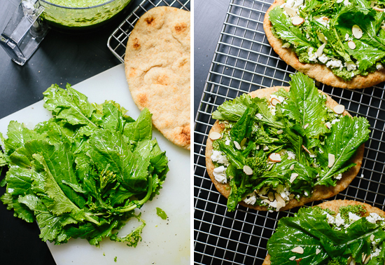 how to make broccoli rabe naan