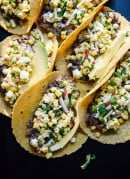 Sweet corn and black bean tacos - cookieandkate.com