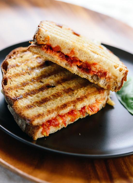 Tomato jam and mozzarella panini recipe - cookieandkate.com