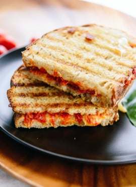 Tomato Jam and Mozzarella Panini