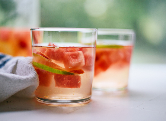 Watermelon sangria with St. Germain - cookieandkate.com