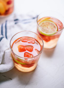 White sangria recipe made with watermelon, nectarine and St. Germaine! cookieandkate.com