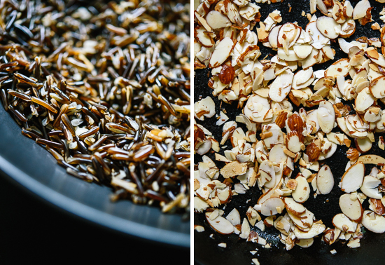 wild rice and almonds