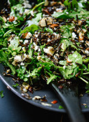 Wild rice and arugula salad with feta