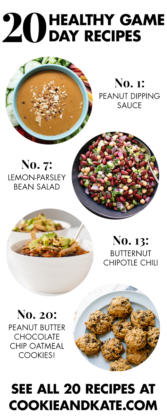Discover 20 healthy game day recipes that everyone will love! See them at cookieandkate.com
