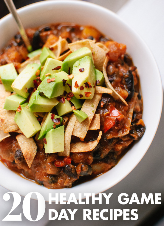 20 healthy, crowd-pleasing game day recipes! See them at cookieandkate.com