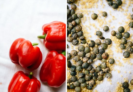 bell peppers, lentils and couscous