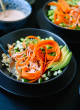 carrot cuccumber sushi bowl