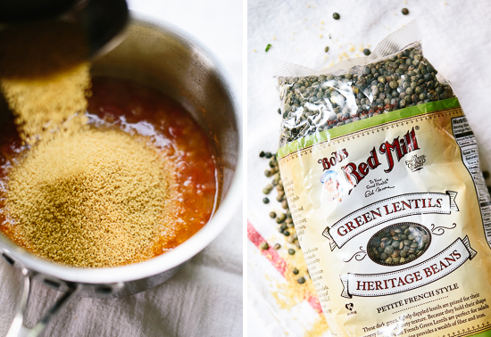 couscous and lentils