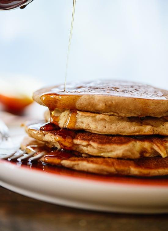 Fluffy gluten-free apple pancakes - cookieandkate.com
