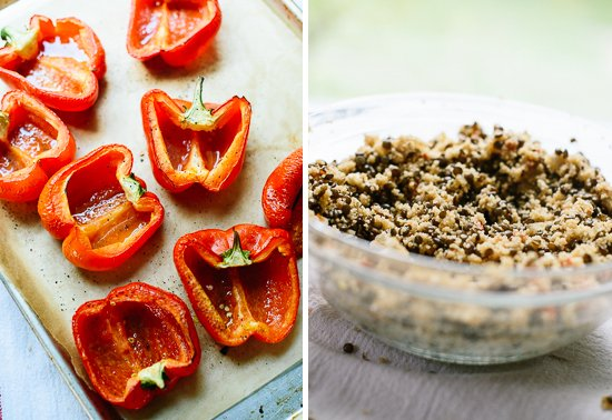 how to make lentil stuffed peppers