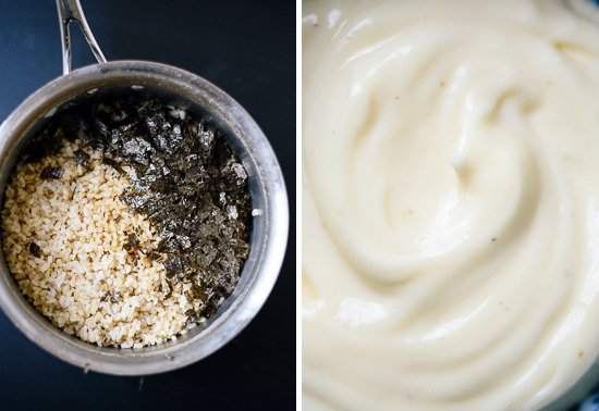 nori with rice and mayonnaise