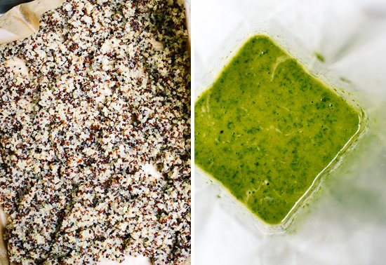 quinoa and pesto dressing