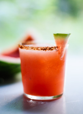 Spicy Watermelon Margaritas
