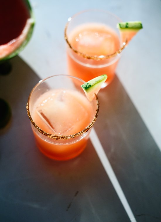 Spicy watermelon margaritas - cookieandkate.com